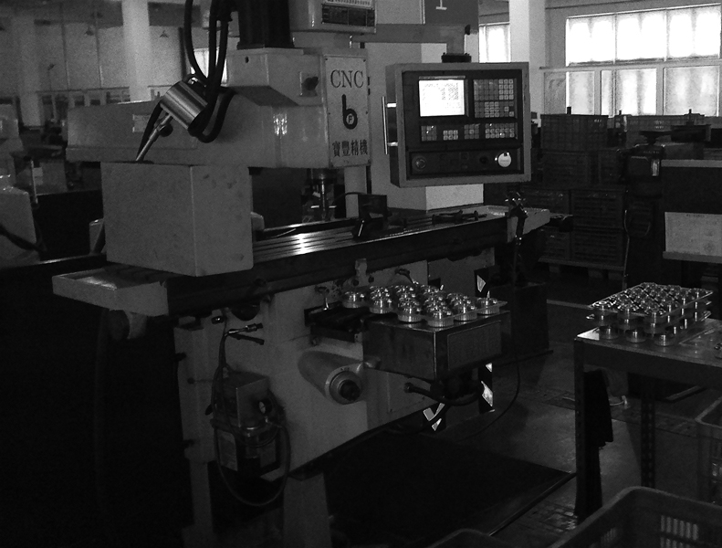 overseas manufacturing CNC facility closeup